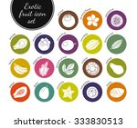exotic fruit icon set. clean... | Shutterstock .eps vector #333830513