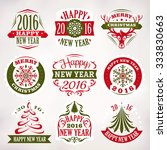 collection of christmas and new ... | Shutterstock .eps vector #333830663