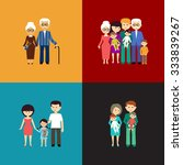 flat set of family life. vector ... | Shutterstock .eps vector #333839267