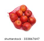 the heap of apples packaged in...   Shutterstock . vector #333867647