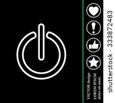 power on off line icon. flat...