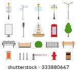 vector city street urban... | Shutterstock .eps vector #333880667