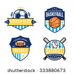 set of soccer  football ... | Shutterstock .eps vector #333880673