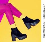 Stylish Shoes On The Platform...