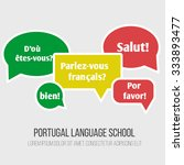 language poster  banner with... | Shutterstock .eps vector #333893477
