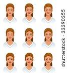 various emotions | Shutterstock .eps vector #33390355