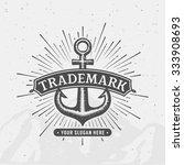 anchor emblem. element for... | Shutterstock .eps vector #333908693