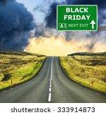 Black Friday Road Sign Against...