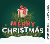 christmas greeting card. merry... | Shutterstock .eps vector #333923807