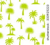 palm tree seamless pattern... | Shutterstock .eps vector #333925223