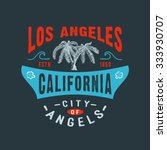 71 city of angels los angeles... | Shutterstock . vector #333930707