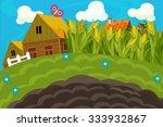 the farm scene for kids  ... | Shutterstock . vector #333932867