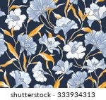 beautiful seamless floral... | Shutterstock .eps vector #333934313