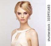 portrait of beautiful sensual... | Shutterstock . vector #333951683