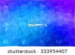 multicolor pink  blue geometric ... | Shutterstock .eps vector #333954407