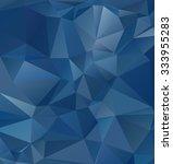 blue polygonal mosaic... | Shutterstock .eps vector #333955283