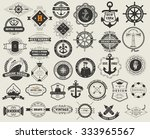 logotypes set and vintage... | Shutterstock .eps vector #333965567