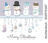 vector christmas greeting card. ... | Shutterstock .eps vector #333970187