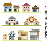 various houses style set  one... | Shutterstock .eps vector #333981227