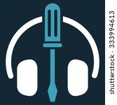 headphones tools vector icon....   Shutterstock .eps vector #333994613