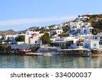 mykonos greece   may 24 2014  ... | Shutterstock . vector #334000037