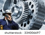 mechanic  engineer with giant... | Shutterstock . vector #334006697