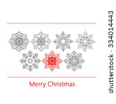 christmas card with snowflakes. ... | Shutterstock .eps vector #334014443