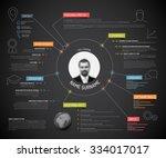 vector original minimalist cv   ... | Shutterstock .eps vector #334017017