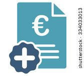 euro medical invoice glyph icon.... | Shutterstock . vector #334033013