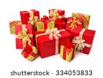 fashionable pile of red and... | Shutterstock . vector #334053833