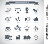 strategy and business icon set | Shutterstock .eps vector #334064363