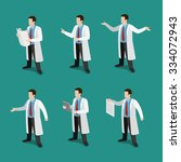 Flat 3d Isometric Doctor At...