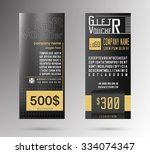 gift voucher template. flyer... | Shutterstock .eps vector #334074347