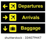 airport sign . vector... | Shutterstock .eps vector #334079447
