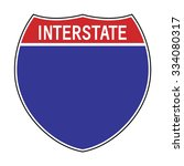blank american interstate...   Shutterstock .eps vector #334080317