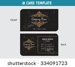 namecard  thai art decorative... | Shutterstock .eps vector #334091723