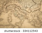 antique map of the world  the... | Shutterstock . vector #334112543
