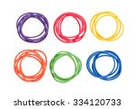 Elastic Bands Isolated On Whit...