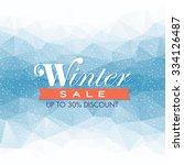 winter sale poster design... | Shutterstock .eps vector #334126487