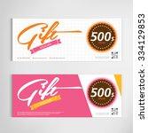 gift voucher template modern...   Shutterstock .eps vector #334129853