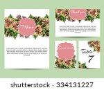 romantic invitation. wedding ... | Shutterstock . vector #334131227
