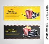 cinema movie poster template... | Shutterstock .eps vector #334131383