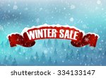 winter sale background with red ... | Shutterstock . vector #334133147