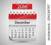 calendar for december  2016 ... | Shutterstock .eps vector #334134797