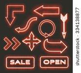 neon set   Shutterstock .eps vector #334138877