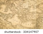 antique map of the world  the... | Shutterstock . vector #334147907