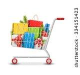 christmas winter sale shopping... | Shutterstock .eps vector #334151423