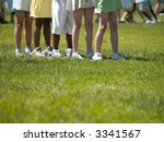 kids in line at a field day... | Shutterstock . vector #3341567
