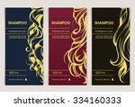 vector set of templates... | Shutterstock .eps vector #334160333