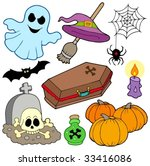 various halloween images 3  ... | Shutterstock .eps vector #33416086